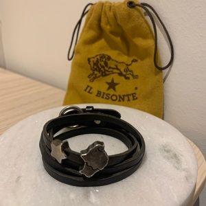 IL Bisonte Leather Strap Bracelet